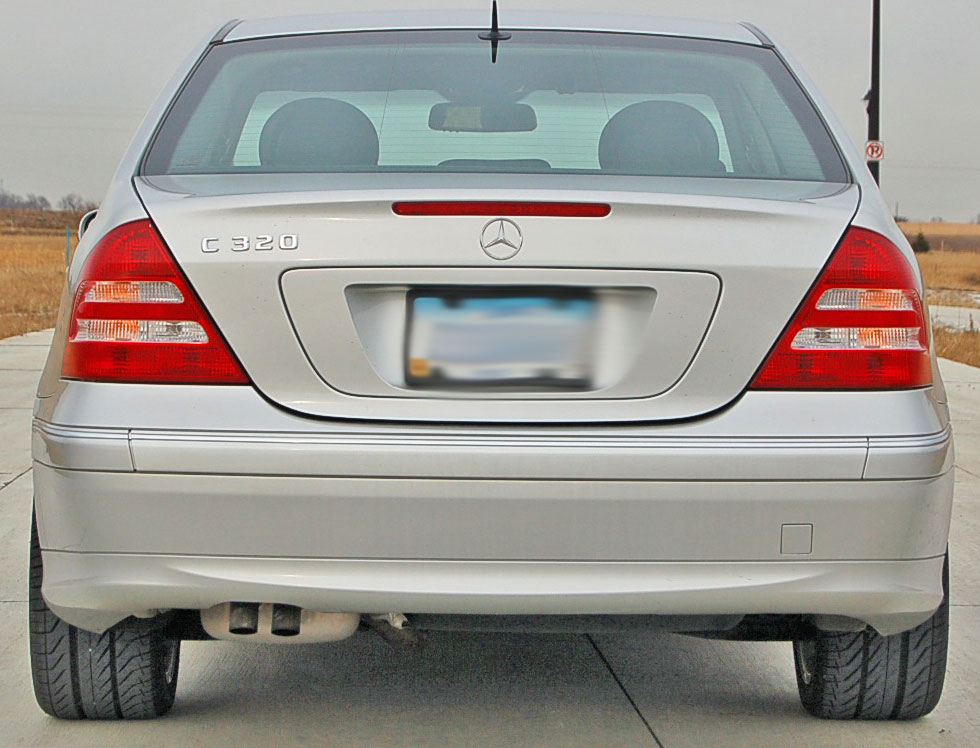 mercedes benz w203 trunk third brake light