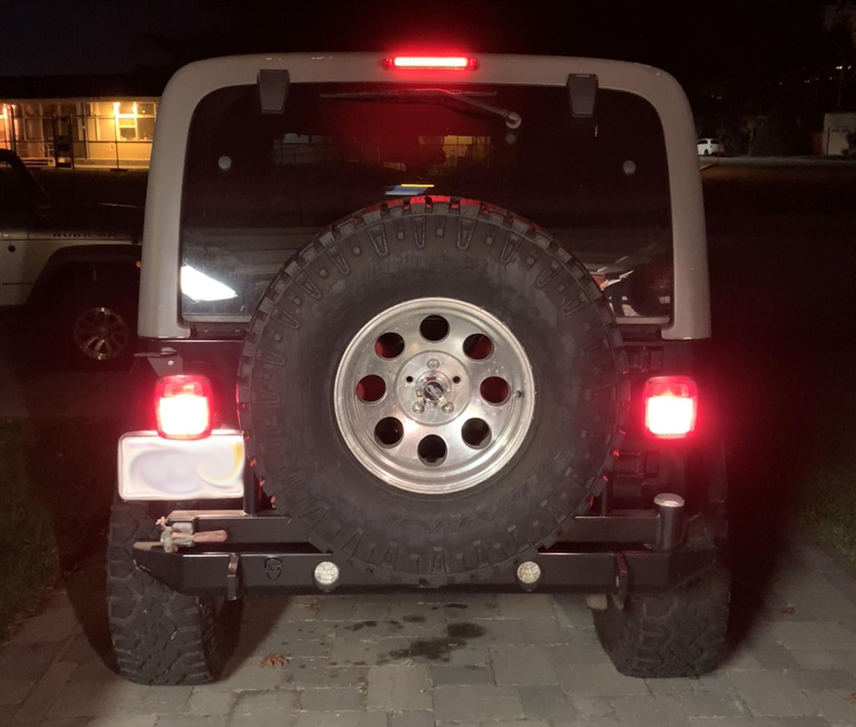 Jeep Wrangler Tj Custom Led Third Brake Light